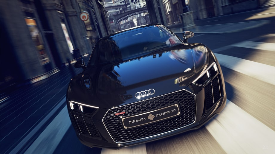 It's called the Audi R8 'Star of Lucis' Edition, after the car that appeared in the movie 'Kingsglaive'