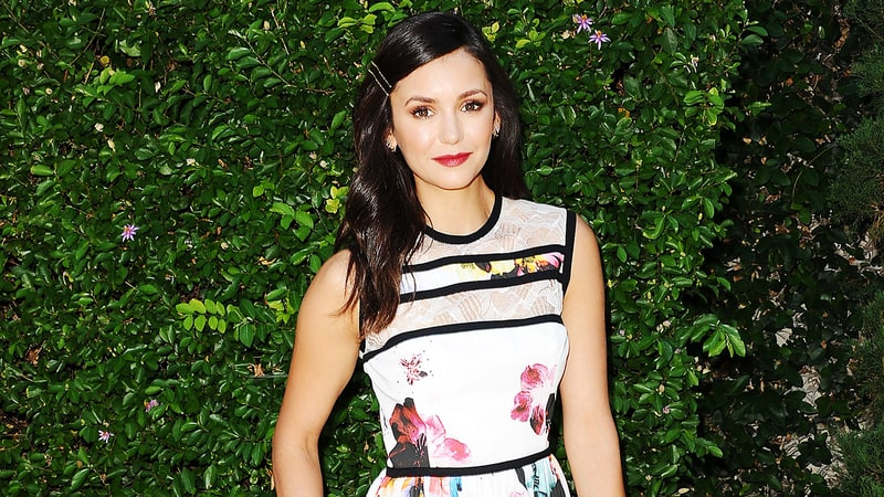 What do you think of Nina Dobrev's fall florals?
