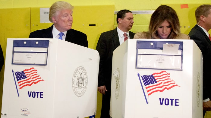 Donald, Eric Trump Peek at Wives' Ballots on Voting Day: Pics - Us ...