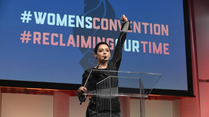 Rose McGowan rips Trump's 'Access Hollywood' tape in anti-Weinstein speech