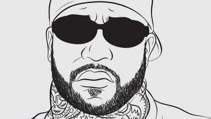 bun b credit illustration by shea serrano - Hip Hop Coloring Book