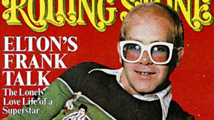 Elton John Lonely At The Top Rolling Stone S 1976 Cover