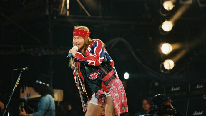 Axl Rose of Guns n Roses performs on stage at The Freddie Mercury ...