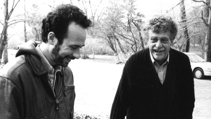 Robert Weide and Kurt Vonnegut Credit: Whyaduck Prod./C. Minnick
