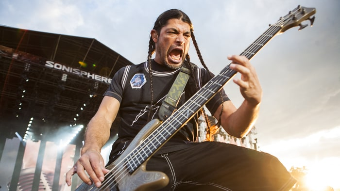 Image result for Images of Metallica's bass player
