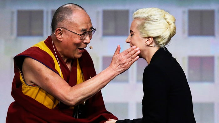 Image result for lady gaga dalai lama interview