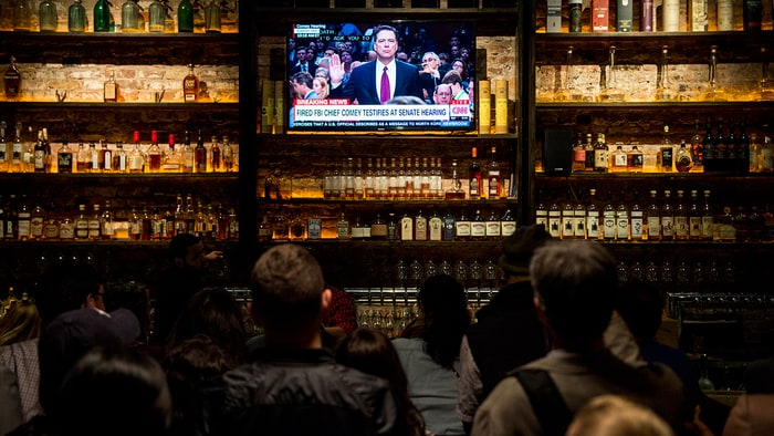 A Number Of Bars In Washington, D.C., Like The Partisan (pictured), Opened  Early Thursday To Host Comey Testimony Watch Parties. Credit: Bill Clark/CQ  Roll ...
