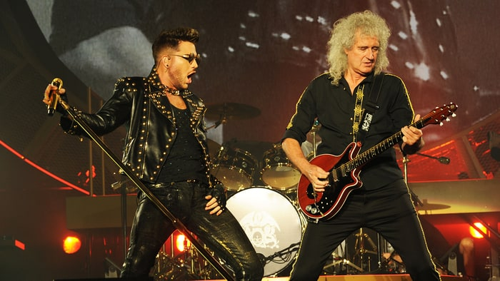 Queen's Brian May and Roger Taylor and live frontman Adam Lambert discuss how their collaboration came about, and their big summer tour.
