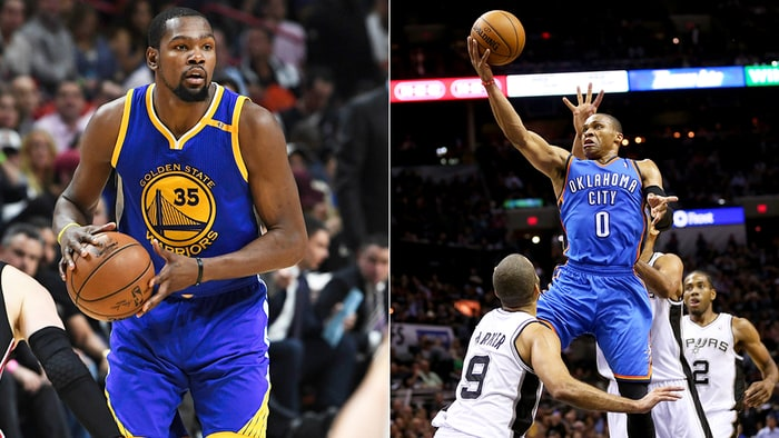 Kevin Durant says there's no real rivalry between him and Russell Westbrook.               Credit Ron Elkman  Sports Imagery  Getty Ronald Martinez  Getty