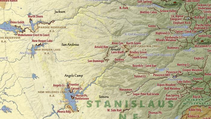 Single Trail Map Tessin