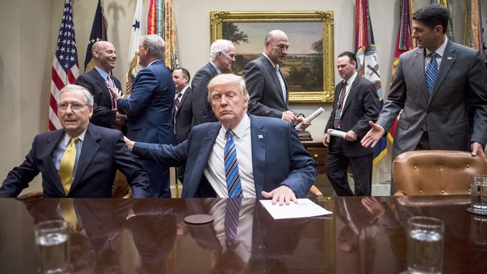 Trump calls House health bill he backed 'mean'