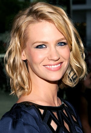 Tips: January Jones, 2017s chic hair style of the cool mysterious  actress model