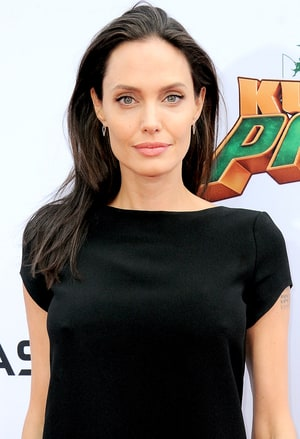 Angelina Jolie arrives for the premiere of DreamWorks Animation and ...
