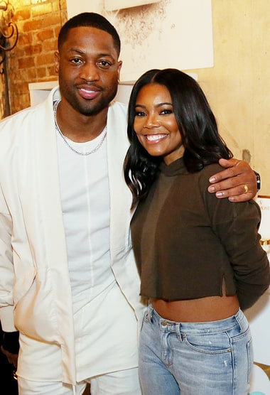 Gabrielle Union Shows Off Taut Tummy With Husband Dwyane