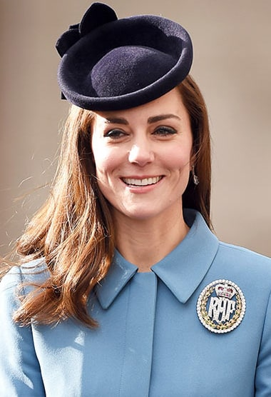 Catherine duchess of cambridge attends the 75th anniversary of the
