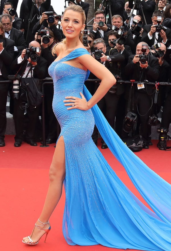 Blake Lively Showcases Baby Bump at Cannes Film Festival ...