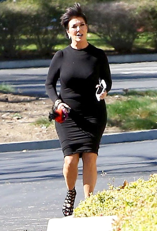 These Photos Of Kris Jenner Running In Strappy Heels Will