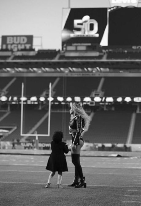 Beyonce Shares Amazing Photos of Blue Ivy on the Super Bowl Turf During Rehearsals