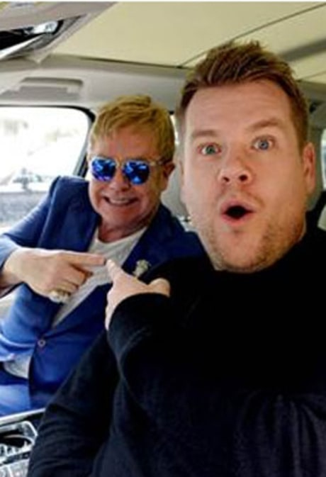 Elton John Does Post-Super Bowl Carpool Karaoke With James Corden: Watch