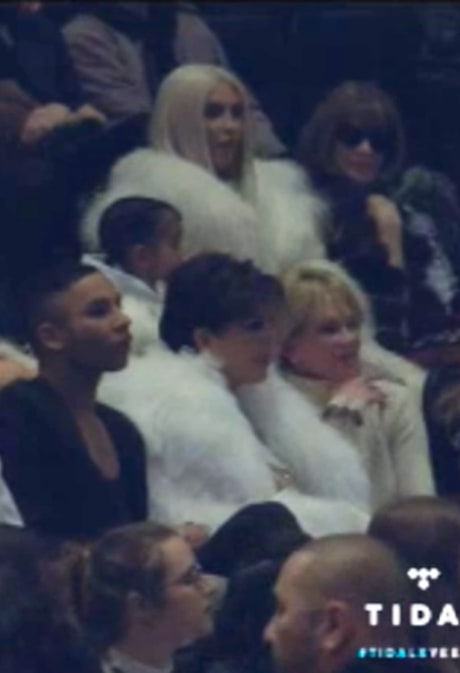 Kim Kardashian (Now Blonde!) Makes Official Post-Baby Event Debut at Kanye West's Yeezy 3 Show: Pictures