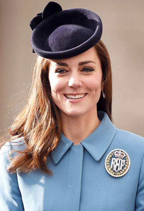 Kate Middleton Meets Air Force Cadets, Says Prince George Is 'Obsessed' With Planes