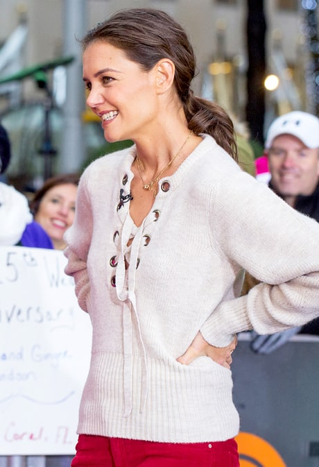 "Katie Holmes: Suri Is ""Very Sensitive,"" Wants to Donate Her Old Toys"