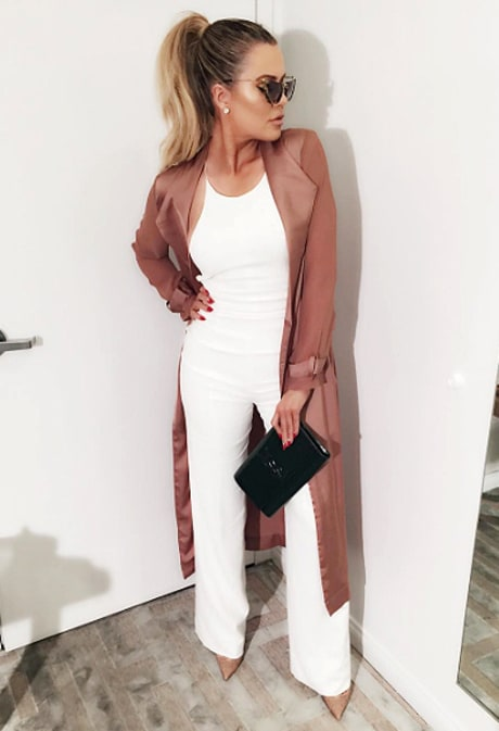 Khloe Kardashian Wears White-Hot Jumpsuit for Reunion With French Montana