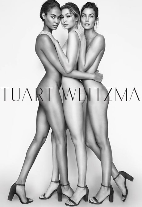 Gigi Hadid Celebrates New (and Nude!) Stuart Weitzman Campaign Amid Her Mom Yolanda Foster's Divorce News