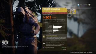 'Destiny 2': Where's Xur and What's He Selling (December 8)?