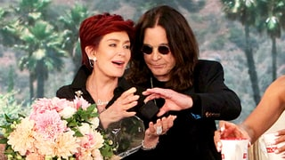 Ozzy Osbourne Surprises Sharon Osbourne With Flowers on 'The Talk' for Her Birthday — and Then They Make Out