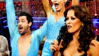 Erin Andrews, Maksim Chmerkovskiy and Brooke Burke