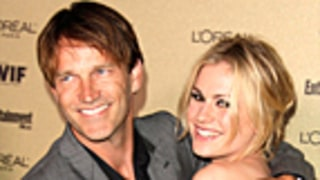Newlyweds Anna Paquin, Stephen Moyer Get Cozy at Pre-Emmy Bash