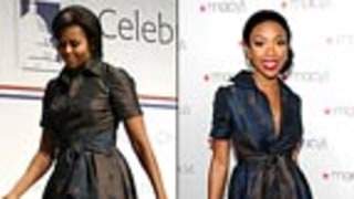 Who Looks Better in the Polka-dot Dress: Brandy or Michelle Obama?