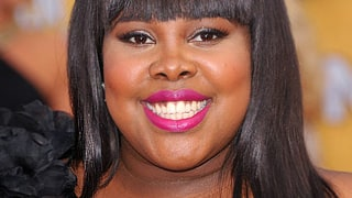 Amber Riley's Coral Cheeks and Fuchsia Pout
