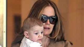 NEW PIC: Kelly Preston Steps Out With Son Benjamin, 5 Months