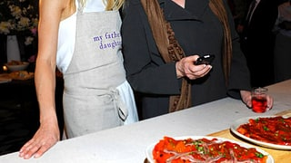 Gwyneth and Martha Heart Pizza!