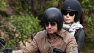 PIC: Jessica Biel Rides Motorcycle With Rumored Fling Gerard Butler