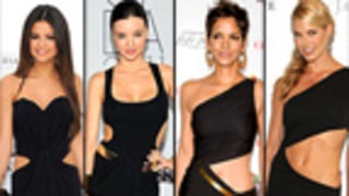 Who Wore it Best?: Sexy Black Cut-Out Dresses