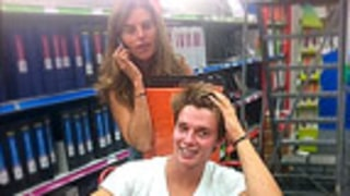 PIC: Maria Shriver, Patrick Schwarzenegger Shop for School Supplies