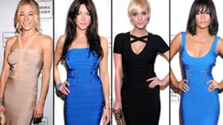 Stars in Skin-Tight Herve Leger Dresses