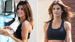 Elisabetta Canalis Flaunts 6-Pack Abs at Taco Truck