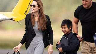 Angelina Jolie Takes Maddox, 10, on a Flying Lesson