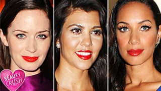 Beauty Crush: Stars in Shiny Red Lipstick