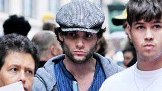 Penn Badgley Joins Protestors at Occupy Wall Street