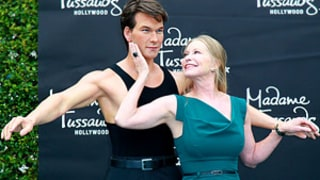 Patrick Swayze's Widow Recreates Dirty Dancing Scene With His Wax Statue