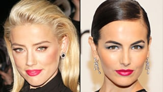 Who Wore Bright Fuchsia Lipstick Best: Amber Heard or Camilla Belle?