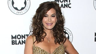 Teri Hatcher, 46, Steps Out in Slinky Gold Dress