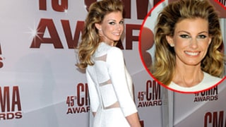 Faith Hill Rocks Big Hair, Sexy Dress at CMAs