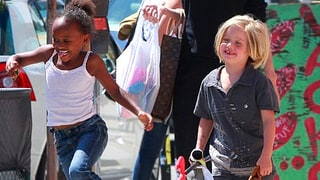 Angelina Jolie, Shiloh and Zahara