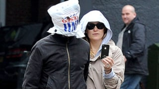 Kate Hudson's Fiance Matt Bellamy Wears a Plastic Bag Over Head